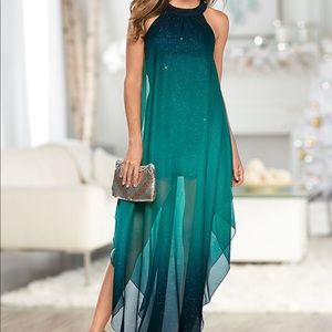 OMBRE GLITTER LONG DRESS